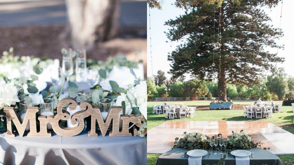Camarillo Ranch Wedding Sweetheart Table