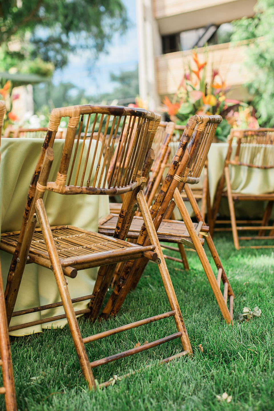 Tropical Party Bamboo Chair